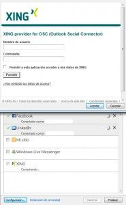 contactos de xing en outlook