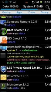 congelar apps android