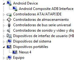 driver installed nexus4