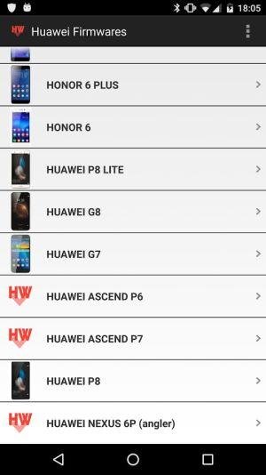 huawei y honor firmwares