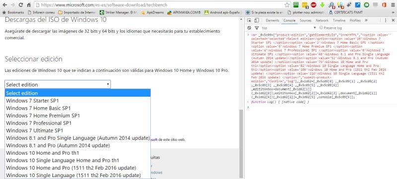 Como descargar todas las versiones de windows 7 8 10 y for Todas las descargas