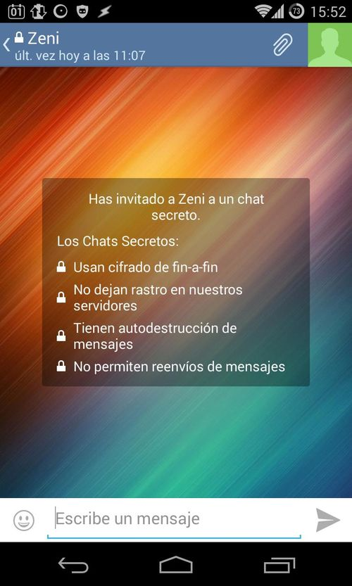 Chat privado online